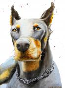 Doberman dog painting commission
