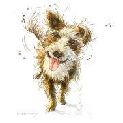 Nobby the dog painting commission