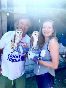 Caroline-and-Chris-with-2-of-our-rescue-owls