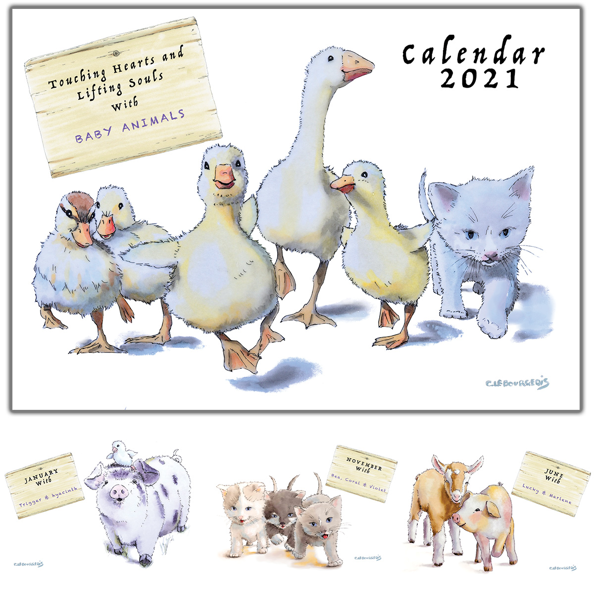 Festive season and baby animals calendar!