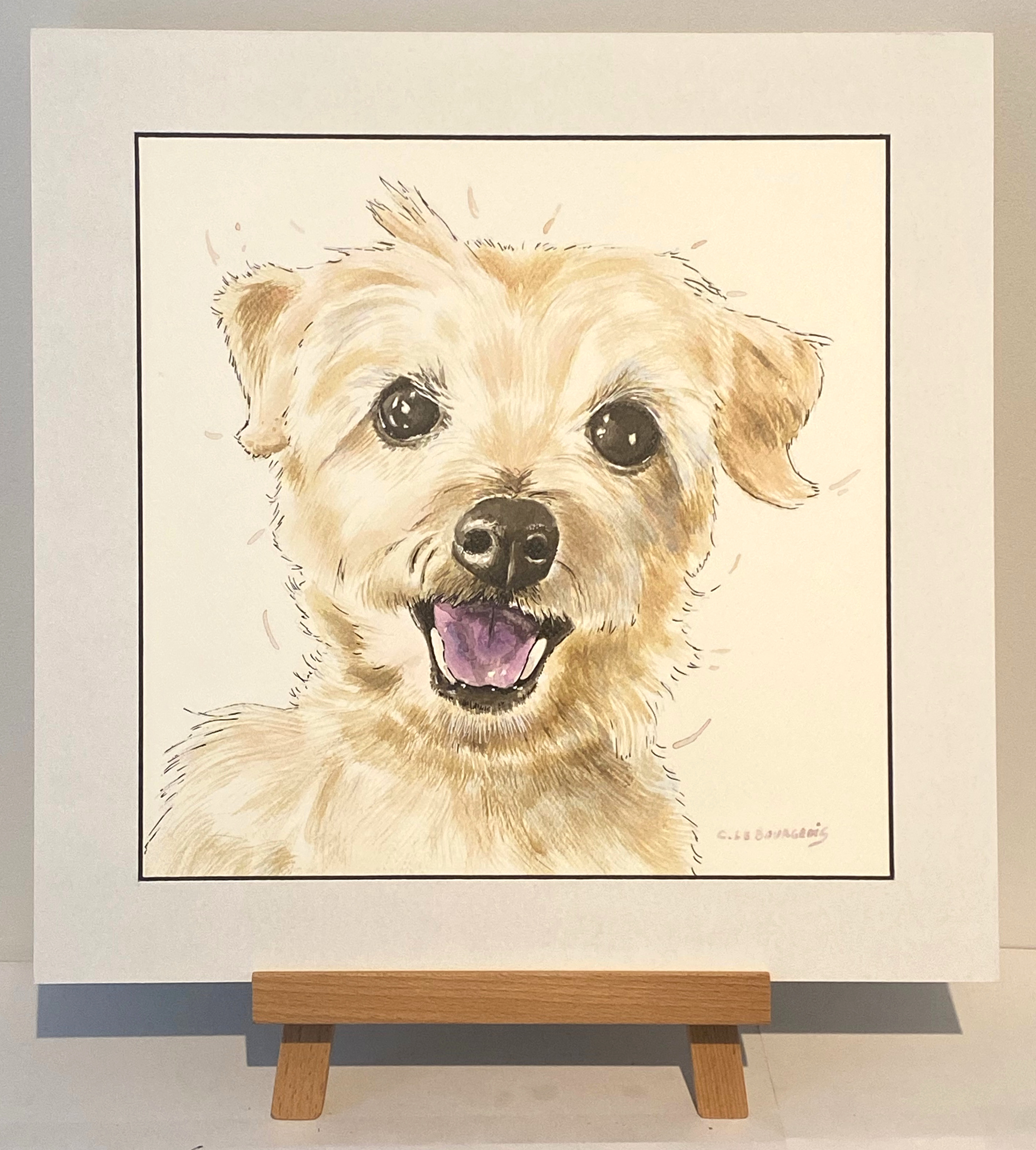 Pet portrait of Ruby the dog!